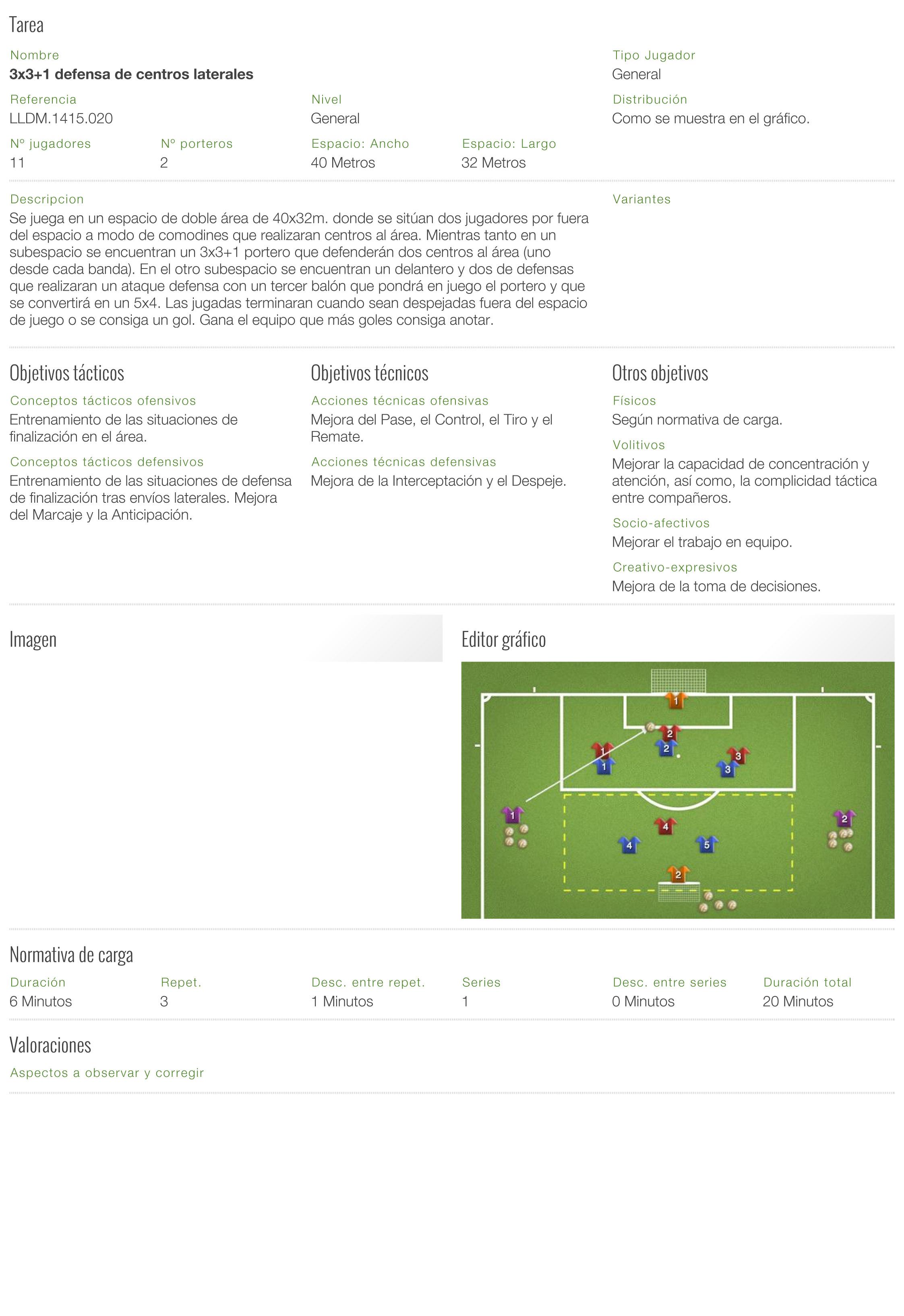 3x3+1 defensa de centros laterales