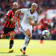 BOURNEMOUTH, ENGLAND - AUGUST 14:  Zlatan Ibrahimovic of Manchester United is closed down by Steve Cook of AFC Bournemouth during the Premier League match between AFC Bournemouth and Manchester United at Vitality Stadium on August 14, 2016 in Bournemouth, England.  (Photo by Stu Forster/Getty Images)
